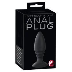 Zwarte Anale Plug met Zuignap - Buttplug